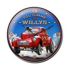 Hot Rod Rat Rod Wild Willys Gasser Metal Clock Man Cave Garage Body Shop lg051