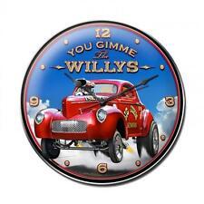 Hot Rod Rat Rod Wild Willys Gasser Metal Clock Man Cave Garage Body Shop lg051