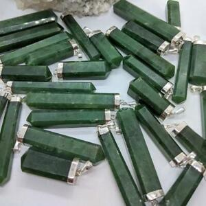 Handmade Nephrite Jade and Solid Sterling Silver Pendants