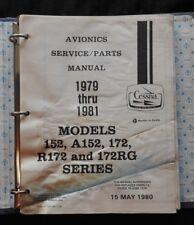 1979 1980 1981 CESSNA 152 A152 172 R172 172RG AIRCRAFT AVIONICS SERV/PART MANUAL