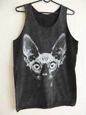 Sphynx Cat Kitty Unisex Punk Rock Vest Tank Top Shirt M