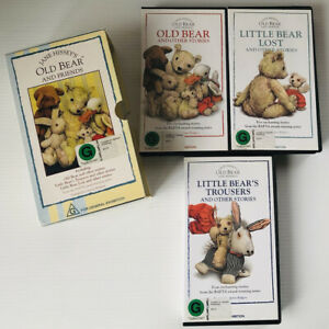 Jane Hissey's Old Bear And Friends 3 VHS PAL Box Set - VINTAGE -Great Condition