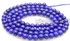 6mm Round Blue Natural Lapis Lazuli Loose Beads for Jewelry Making Strand 15""