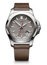 Victorinox Swiss Army Inox Grey Leather Mens Watch 241738