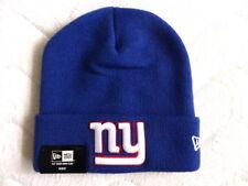 Youth NY Giants'47 Brand NFL Bleu Retro Bobble Beanie Beret Hat New York