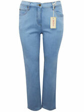 Pantaloni da donna blu a gamba dritta