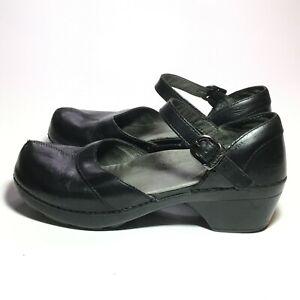 Dansko Woman's Spilt Toe Mary Jane Sandal Black Size 37 EUC