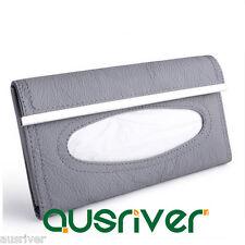 New Leather Car Sun Visor Tissue Box Paper Napkin Holder Clip Auto Accessory