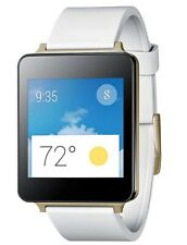 LG G Watch 38mm Stainless Steel Case White Gold Classic Buckle (LG-W100)
