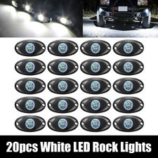 """20x 2"""" White CREE LED Rock Light for Jeep SUV Offroad Truck Boat Underbody Lamp"""