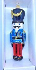 "Gorgeous 7"" Large Glass Figural Classic Nutcracker Soldier Ornament POLAND BNIB"
