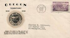 1936 Daniel Wyoming Anniversary of Oregon Territory Postal Cover