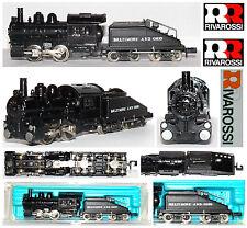 RIVAROSSI 2185 VINTAGE STEAM LOCO Baltimore-Ohio USA BLACK-REPAINTED BOX SCALA-N