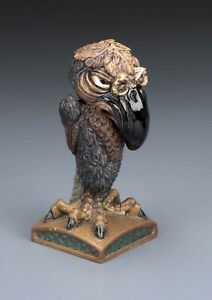 BURSLEM POTTERY GROTESQUE BIRD STENOGRAPHER STONEWARE INSPIRED  MARTIN BROTHERS