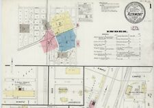 Altamont, Illinois~Sanborn map sheets 1893, 1898, 1906, 1911 in full color