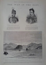 1894 PRINT THE WAR IN THE EAST :CHINA AND JAPAN
