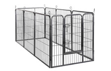 Outdoor Cage Heavy Duty Pet Playpen Dog Exercise Run Pen Metal Panels Fence Play