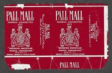 SOFT CIGARETTE PACKET- Pall Mall, USA export to Australia , 1977 #