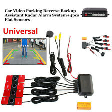 Auto Car Video Parking Reverse Backup Assistant Radar Alarm System+Flat Sensor