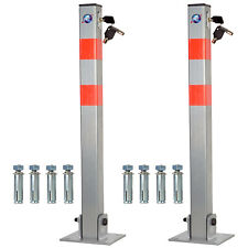 2X LOCKABLE PARKING FOLDING BARRIER CAR PARK BOLLARD DRIVEWAY SECURITY POST 3KEY