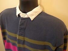 St. John's Bay L/S Shirt Sz L Multi-Colored 100% Cotton