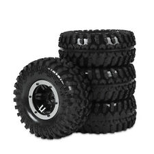 "4X 2.2"" Air Inflatable Alloy Beadlock Tires For HSP 1:10 RC Off Road D90 3022SR"