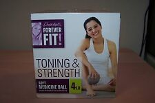 Denise Austin Forever Fit Soft Medicine Ball 4 Lb for TONING & STRENGTH NEW nBox