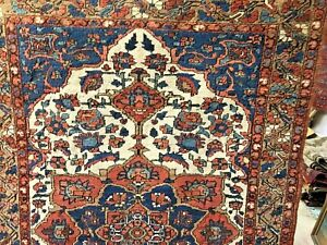 Auth: 1920's Antique  P E R S I A  N   Organic Collectable Wool Beauty 5x6'   NR