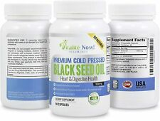 BLACK SEED OIL Pills Cold Pressed 1000mg Immune Support 90 cts Non-GMO PURE USA