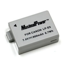 Replacement digital camera battery for CANON LP-E5 and more