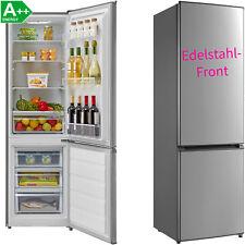 A++ Kühl-Gefrierkombination Edelstahl 39 dB(A) Kühlkombi Kühlschrank 180 cm hoch