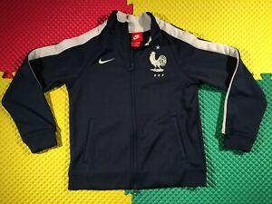 France FFF National Team Nike Blue Training Jacket Youth Size M 10-12 Year Old