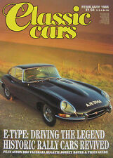 Classic Cars magazine February 1988 Jaguar E-type, Aston Martin DB4