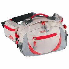Abbey Outdoor Waist Bag Beige and Red Waist Money Belt Fanny Pack Hip Wallet