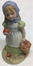 Reco The McClellands�Country Lass�3.5�Girl&Bas ket Of Apples Collectible Figurine