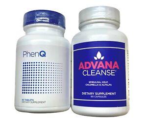 PhenQ & Advana Cleanse Diet Pills Lose Weight Loss Fat Burner Energy Phen Q Kit