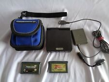 Nintendo Game Boy Advance SP GBA Black AGS-001 With 2 Game Bundle Lot