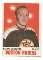 1970-71 O-Pee-Chee #1 Gerry Cheevers Boston Bruins