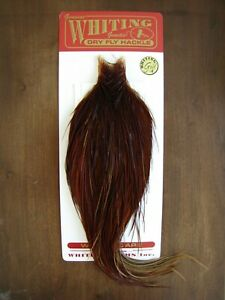Fly Tying Whiting Gold Rooster Cape Brown #A