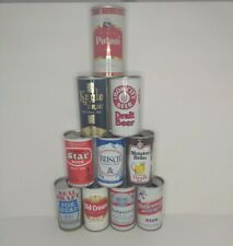 Vintage 70s Pull Top Beer Cans Mixed Variety Lot Of 10