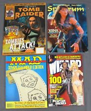 Wizard Comics #131 Mad Mag Computer Virus Edition Spectrum #29 & Tomb Raider #9