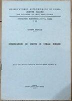Osservazioni di Stelle 1955 G.Armellini libro osservatorio astronomico Roma