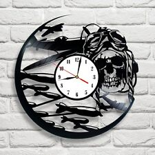 MORTO PILOTA AEREO GUERRA Design Vinile Record Orologio Art Home Decor Club Pub Negozio