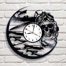 Dead Pilot Plane War design vinyl record clock art home decor club pub shop