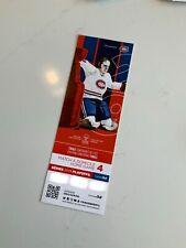 unused season hockey tickets Montreal Canadiens Ken Dryden