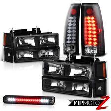 LED Third Brake Taillight Lamp Black Headlight Smoke 94-98 Silverado Chevy Truck