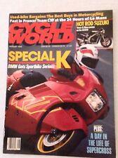 Cycle World Magazine BMW Special K Sportbike August 1989 030517NONRH