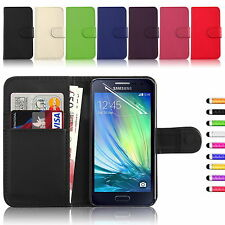 PU Leather Magnetic Flip Case Card Wallet Cover for Samsung Galaxy Mobile Phones