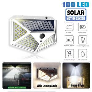 100 LED Solar Power PIR Motion Sensor Light Security Outdoor Garden Waterproof
