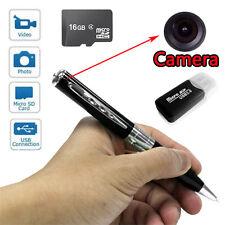 16GB Silver Pen HD Spy Hidden Video Camera Audio Camcorder 1280 X 960 Mini DVR